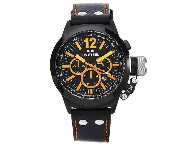 TW Steel CE1029 Men's Black IP Chronograph Black Dial Watch