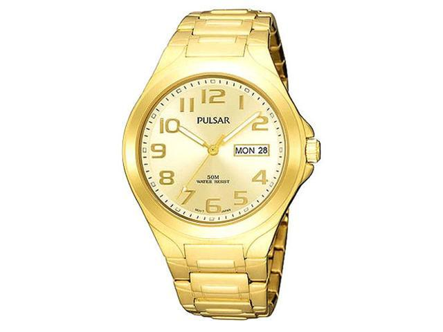 Pulsar PXN152 Men's Yellow Gold Plated Champagne Dial Watch