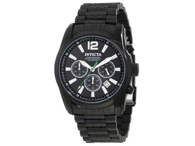 Invicta 10629 Men's Specialty Black IP Stainless Steel Black Dial Chronograph Wa