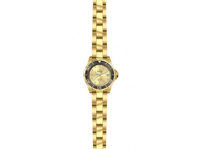 Invicta 14987 Women's Pro Diver Gold Dial Gold Plated Steel Bracelet Dive Watch