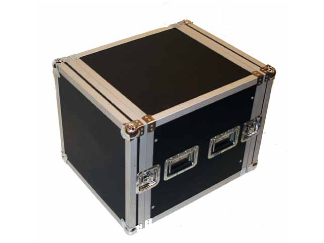 Seismic Audio - 10 Space Rack Flight Case - Fits Standard 19 inch Gear