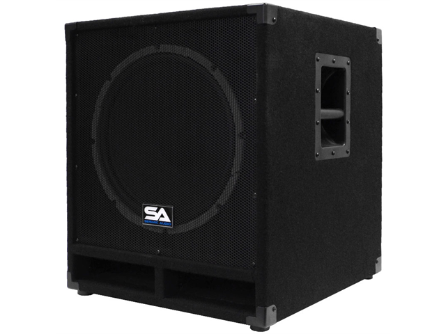 """Seismic Audio - Baby-Tremor_PW - Powered 15"""" Pro Audio Subwoofer Cabinet - 300 Watts RMS - PA/DJ Stage, Studio, Live Sound ..."""