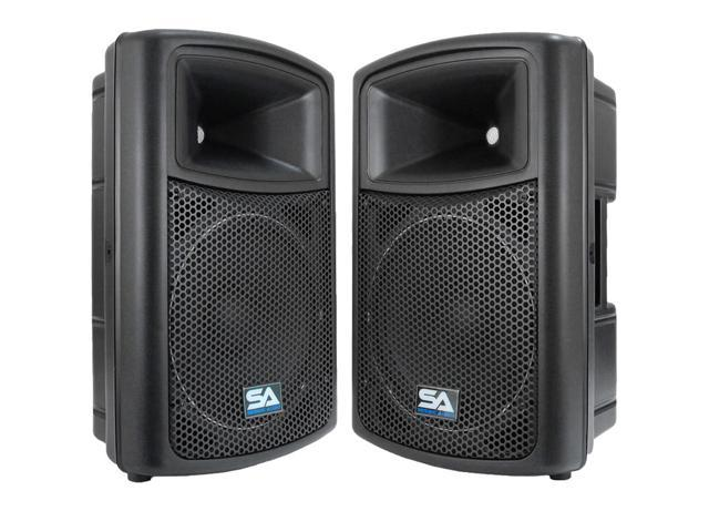 "Seismic Audio - PWS-12 (Pair) - 12"" POWERED SPEAKERS - 500 Watts RMS - PA/DJ"