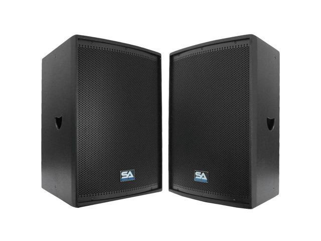 "Seismic Audio - Two 12"" Loud Speakers or Monitors PA/DJ Speaker Cabinets"