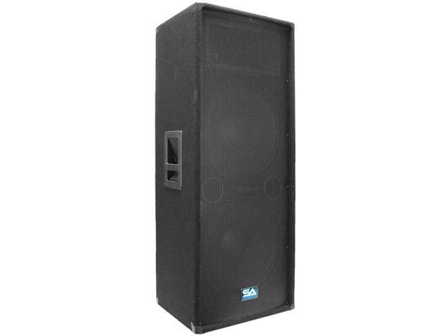"""Seismic Audio - Dual 15"""" PA / DJ Speaker Cabinet with Titanium Horn"""