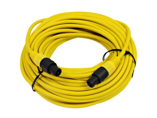 Seismic Audio - TW12S100Yellow - 12 Gauge 100 Foot Yellow Speakon to Speakon Professional Speaker Cable - 12AWG 2 Conductor Speaker Cable