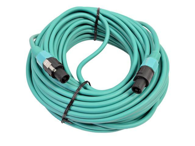 Seismic Audio - TW12S100Green - 12 Gauge 100 Foot Green Speakon to Speakon Professional Speaker Cable - 12AWG 2 Conductor Speaker Cable