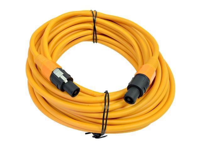 Seismic Audio - TW12S50Orange - 12 Gauge 50 Foot Orange Speakon to Speakon Professional Speaker Cable - 12AWG 2 Conductor ...