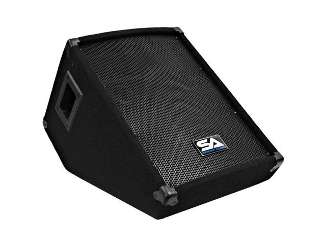 Seismic Audio - 10 Inch Wedge Style Stage/Floor Monitor Speaker Cabinet