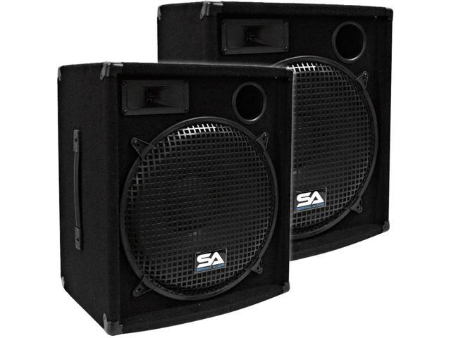 "Seismic Audio - Two 15"" PA/DJ Speaker Cabinets or 15"" Floor Monitors"