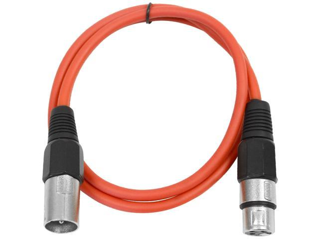 Seismic Audio - Red 2' XLR male to XLR female Patch Cable