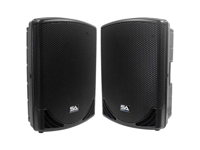 Seismic Audio - MainShock-15-Pair - Pair of Powered 2-Way 15