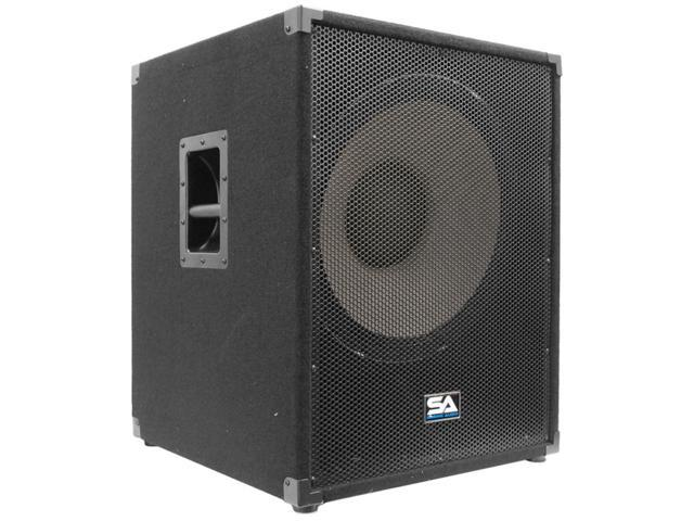 Seismic Audio - 18 inch Powered PA Subwoofer Cabinet PA/DJ 1200 Watts RMS