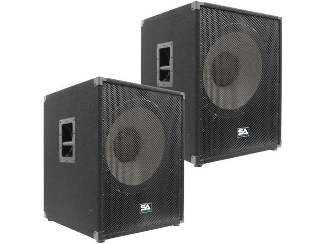 Seismic Audio - Pair of 18 inch PA Subwoofer Cabinet Pro Audio PA/DJ