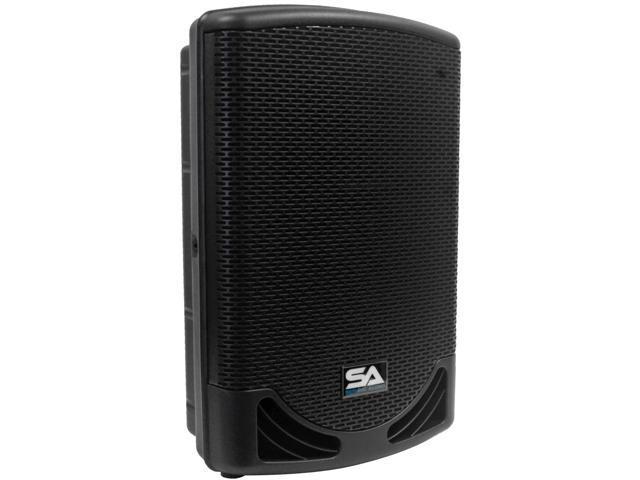 "Seismic Audio - MainShock-12 - Powered 2-Way 12"" PA / DJ Molded Speaker Cabinet with Titanium Horn - Active 500 Watt Loudspeaker ..."