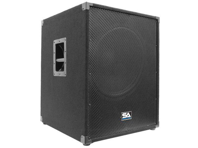 Seismic Audio - 18 inch Powered PA Subwoofer Cabinet PA/DJ 800 Watts RMS