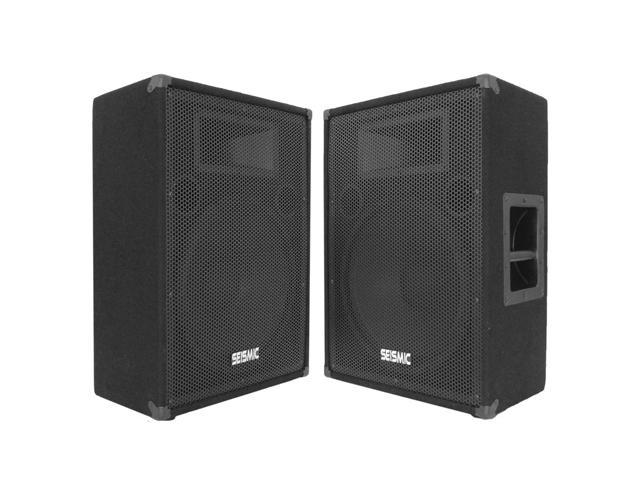 "Seismic Audio - FL-15MP (Pair) - 15"" FLOOR MONITORS - 400 Watts RMS - Stage/Studio PA/DJ Speakers"