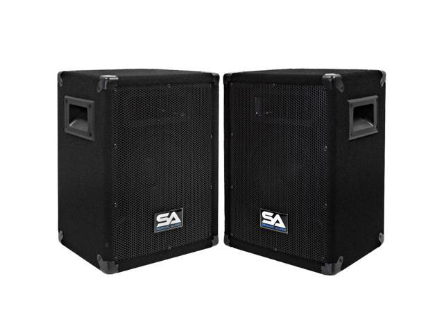 "Seismic Audio - Two 8 Inch Pro Audio Speaker Cabinets or 8"" Floor Monitors"