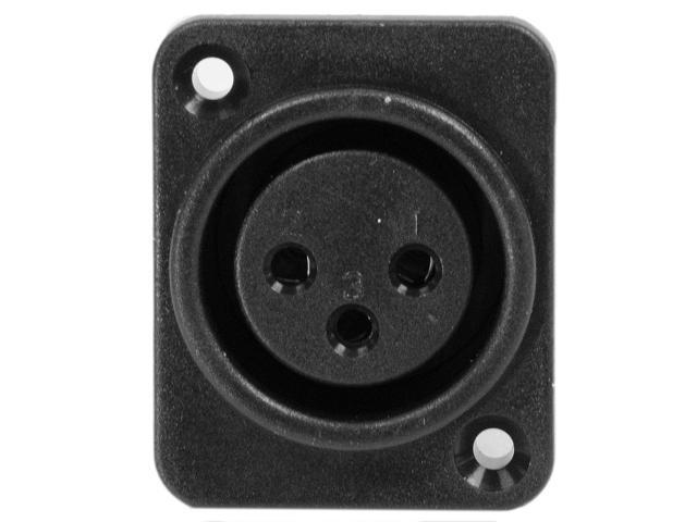 Seismic Audio - SAPT229 - 3 Pole XLR Female Vertical PCB Mount Connector - Black  - Fits Series D Pattern Holes Pro Audio