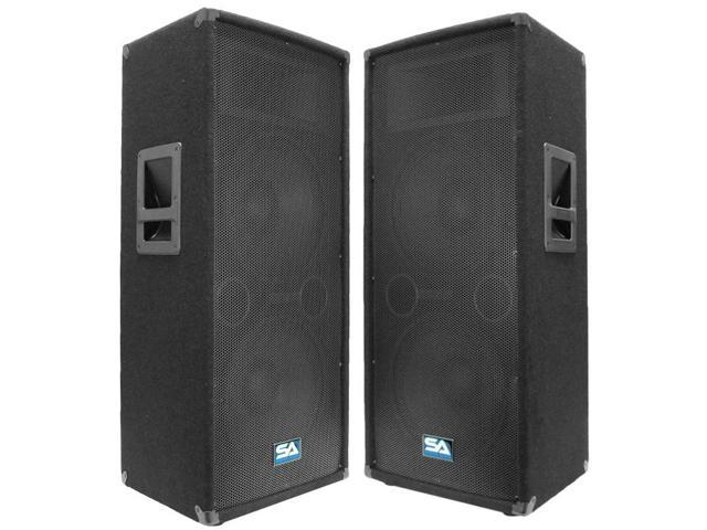 """Seismic Audio - Two Dual 12"""" PA/DJ Speaker Cabinets with Titanium Horns"""