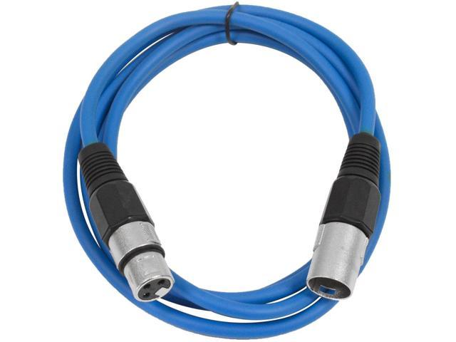 Seismic Audio -  SAXLX-6 Blue 6' XLR male to XLR female Patch Cable