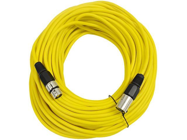 Seismic Audio - Yellow 100' XLR male to XLR female Microphone Cable