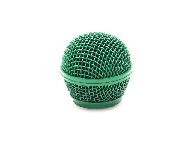 Seismic Audio - SA-M30Grille-Green - Replacement Green Steel Mesh Microphone Grill Head - Compatible with SA-M30, Shure SM58, Shure SV100 and Similar