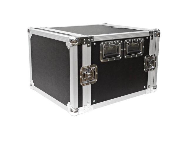 Seismic Audio - 8 Space Rack Flight Case - Fits Standard 19 inch Gear- Pro Audio