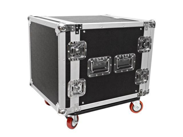 Seismic Audio - 10 Space Rack Flight Case with Casters - Fits Standard 19 inch