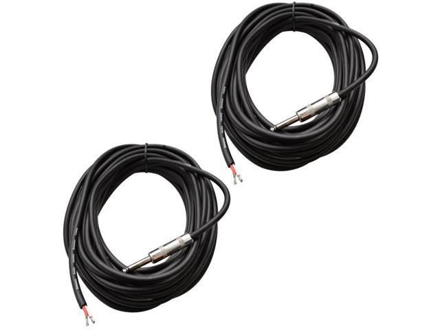 """Seismic Audio - QRW35 (Two Pack) - 35' Raw Wire to 1/4"""" PA/DJ SPEAKER CABLE"""