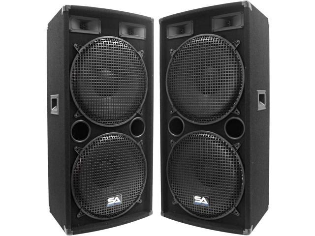 Seismic Audio - Two Dual 15