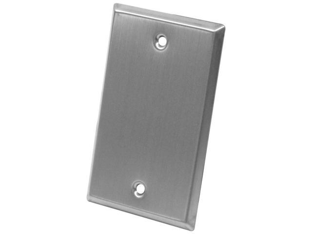 Seismic Audio - SA-PLATE9 - Stainless Steel Blank 1 Gang Wall Plate - For Cable Installation