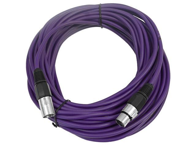 Seismic Audio - Purple 50' XLR male to XLR female Microphone Cable