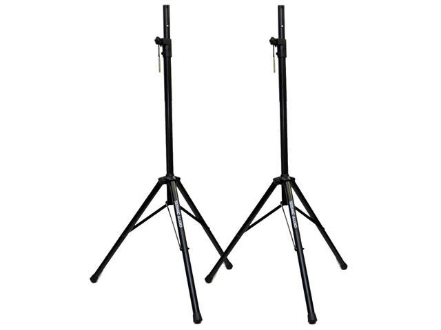 Seismic Audio - Pair of Heavy Duty Steel Tripod Speaker Stands for PA or DJ Speakers