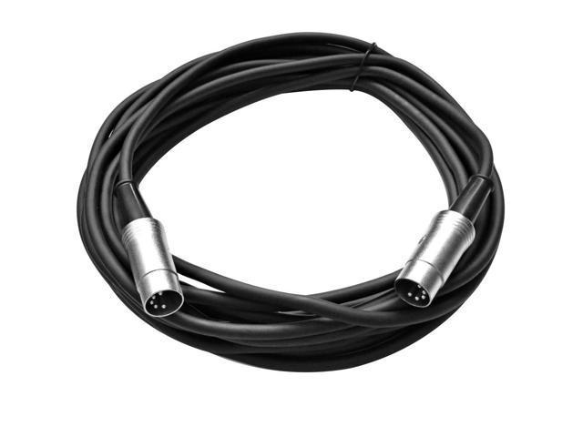 Seismic Audio - 5 Pin MIDI Cable 20 Feet - Metal Headshell