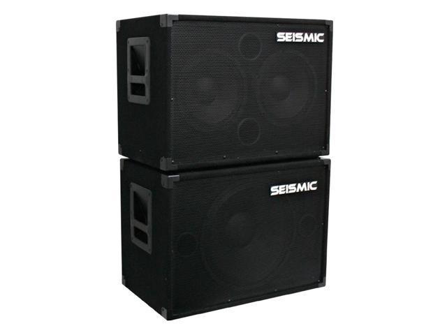Seismic Audio - 1x15 Bass Guitar Speaker Cab and 2x10 Bass Guitar Speaker Cab