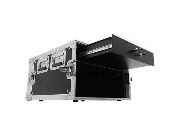 Seismic Audio - 6 Space Rack Flight Case with 2 Space Rack Drawer