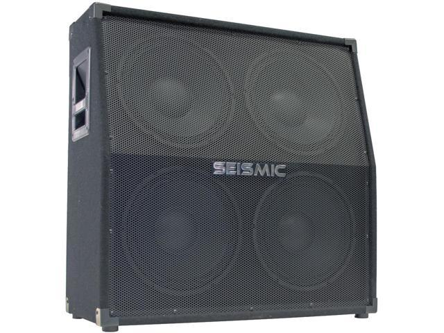Seismic Audio - 4x12 Slant Top Guitar Speaker Cabinet - 400 Watts RMS - 8 Ohms