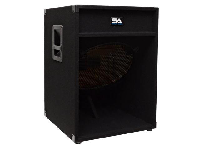 Seismic Audio - 18 inch Empty Down Firing Pro Audio PA / DJ Subwoofer Cabinet