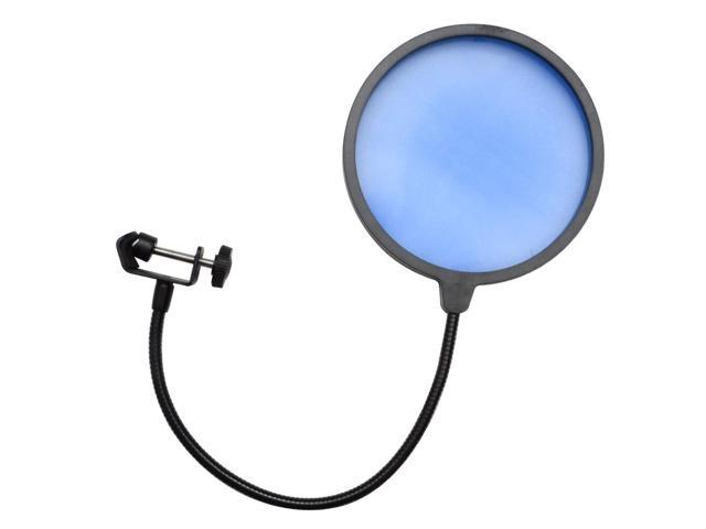 Seismic Audio - SA-MicScreenBlue - Flexible Microphone Wind Screen Studio Mic Pop Filter Blue
