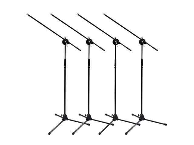 Seismic Audio - Four Tripod Microphone Stands with boom