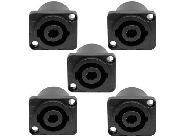 Seismic Audio - SAPT223-5Pack - 5 Pack of 2 Pole Speakon Panel Mount Connectors  - Fits Series D Pattern Holes Pro Audio