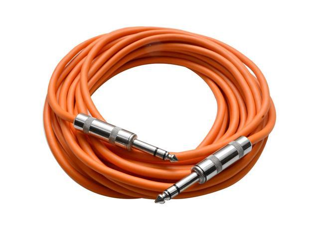 Seismic Audio - SATRX-25Orange - 25 Foot Orange 1/4