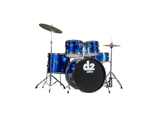 ddrum D2 5pc Drum Set with Hdwr & Cyms - Police Blue