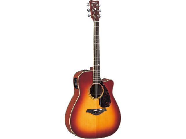 Yamaha FGX720SCA Acoustic/Electric Guitar in Brown Sunburst