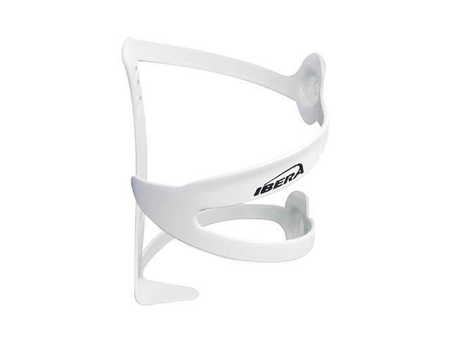 Ibera Ergonomic Bike Water Bottle Cage, White