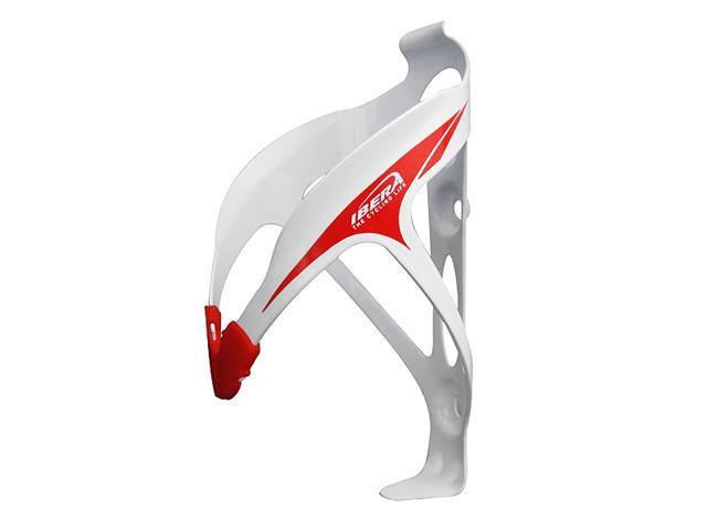 Ibera Extra Lightweight Alloy Bicycle Water Bottle Cage, Rubber Grip (White)