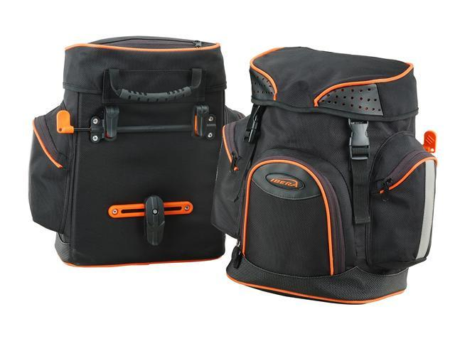 Ibera Bicycle PakRak Quick Release Commuter Panniers (Pair)