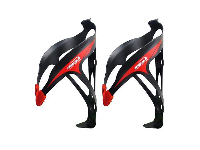 Ibera Bicycle Black Water Bottle Cage Pair- Extra Lightweight Aluminum