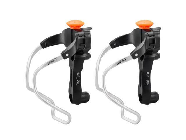 Ibera Bicycle Water Bottle Cage Pair - Fine Tune Width - Adjustable and Tilt-Access